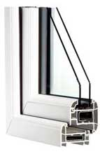 White uPVC Windows - Cross Section