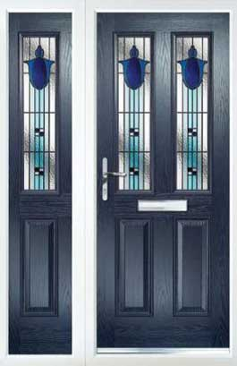 PVCu Residential Doors - Blue Composite Doors and Side Panel