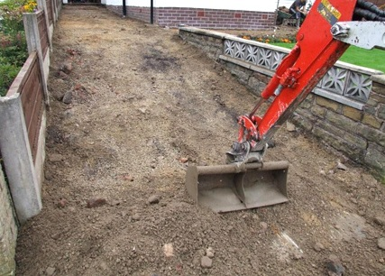 Tarmacadam Installation - Excavation of domestic driveway