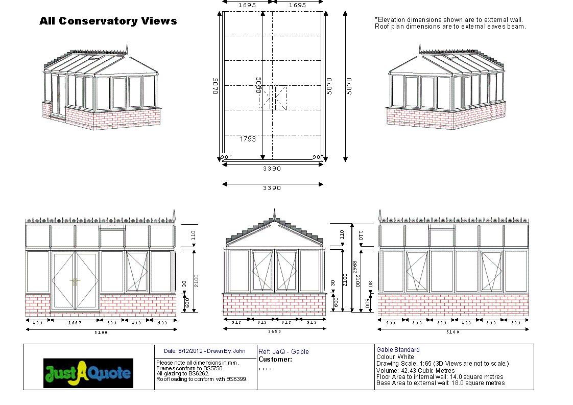 Gable Conservatories - Gable Conservatory CAD Drawing