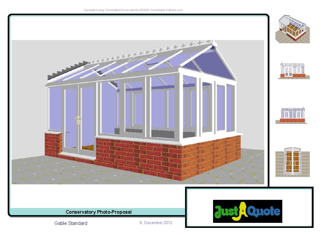 Gable Conservatories - Gable Conservatory CAD Image