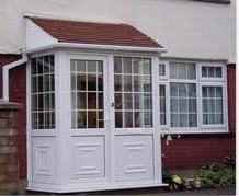 Porches - Georgian Style Porch with uPVC Panels