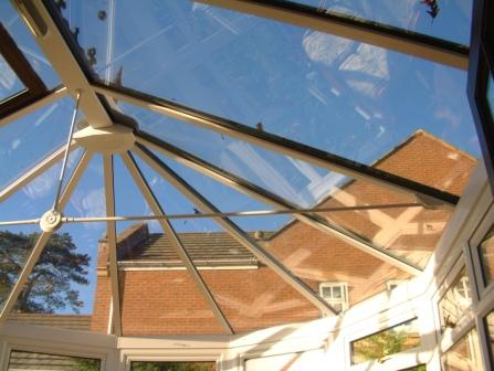 Conservatory Glazing - Glass Roof in a Five Facet Victorian Conservatory