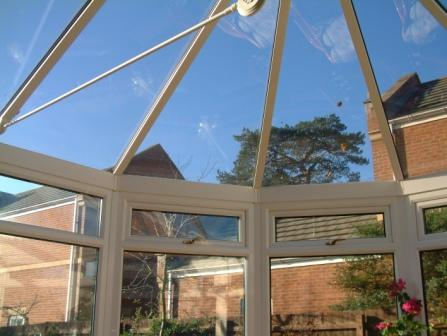 Conservatory Glazing - Solar Control Glass in a Victorian Conservatory Roof