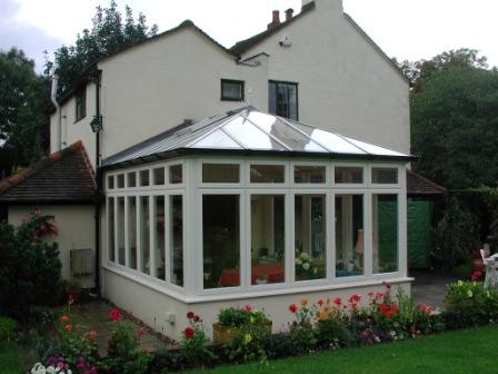 Edwardian Conservatories - Hardwood Edwardian Conservatory with Sashes Showing Equal Sight Lines