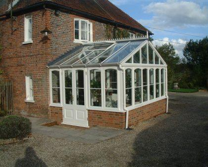 Gable Conservatories - Hardwood Gable Conservatory with Double Doors and Roof Vents