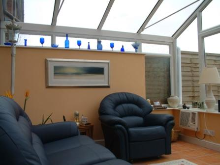 Gable Conservatories - Gable Conservatory with High Wall, Internal View