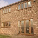 Light Oak PVCu Double Doors
