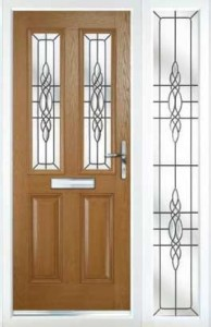 PVCu Residential Doors - Light Oak Composite Doors and Side Panel