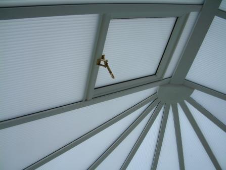 Conservatory Glazing - Opal Polycarbonate in a White uPVC Conservatory Roof with Roof Vent