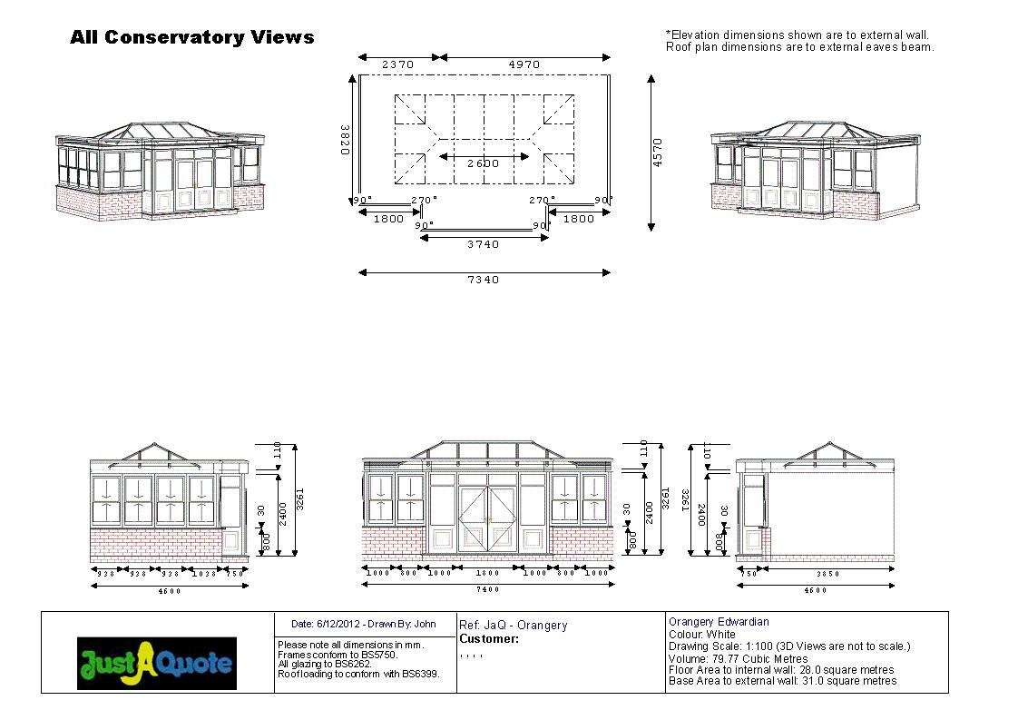 Orangeries - Orangery CAD Drawing