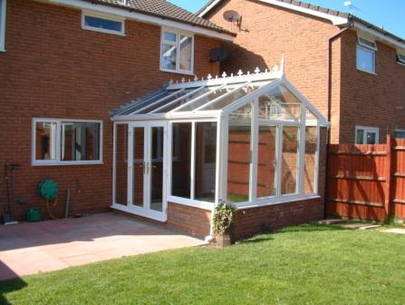Gable Conservatories - Gable Conservatory with High Boundary Wall