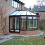 Rosewood Victorian Conservatory with PVCu Double Doors