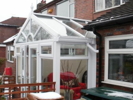 Gable Conservatories - Small Gable Conservatory with Sun Burst Design