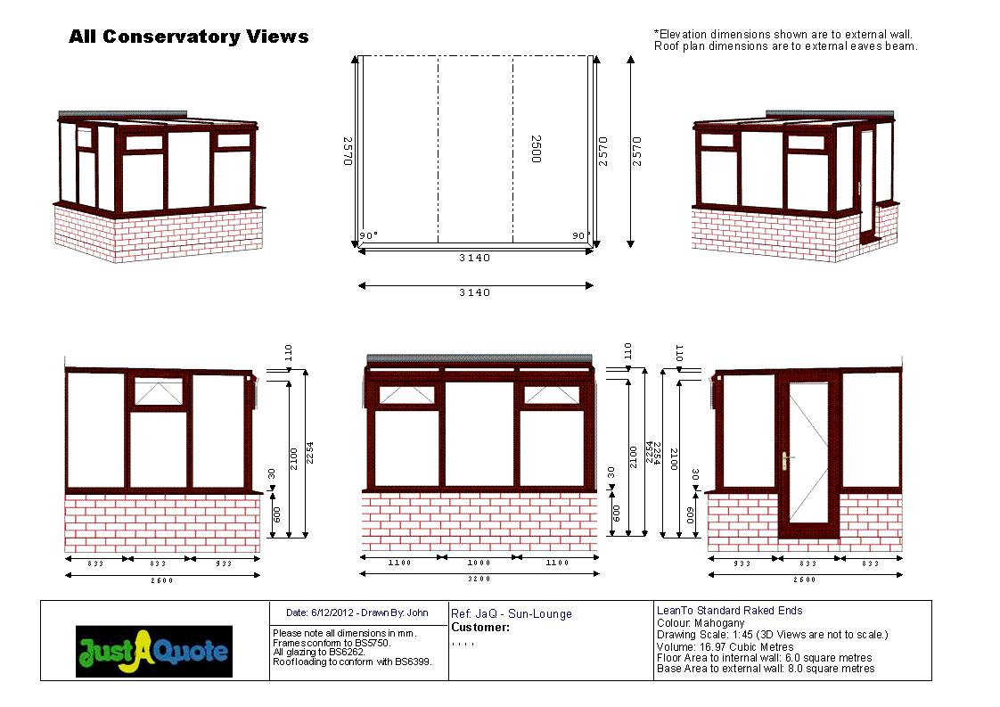 Sun Lounge Conservatories CAD Drawing