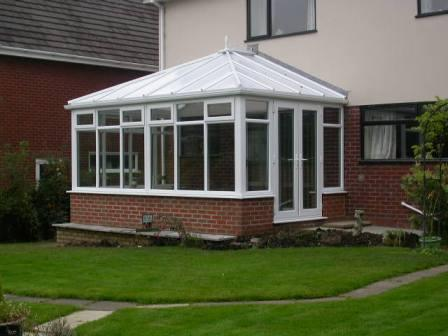 Edwardian Conservatories - White uPVC Edwardian Conservatory with Polycarbonate Roof