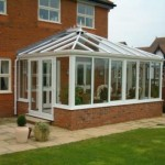 White PVCu Double Doors in an Edwardian Conservatory