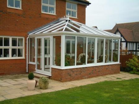 Edwardian Conservatories - White PVCu Edwardian conservatories with uPVC tilt and turn windows