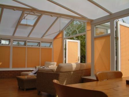 Combination Conservatories - White uPVC P Shaped Conservatory with Gable Front, Internal View