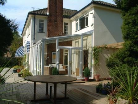 Sun Lounge Conservatories - White uPVC Sun Lounge Fully Glazed