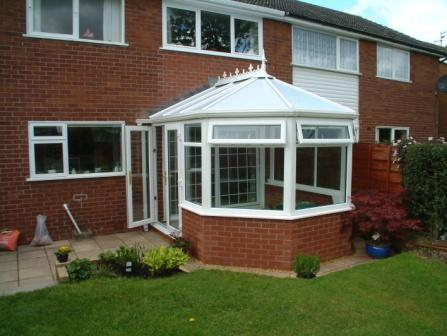 Victorian Conservatories - Three Facet Victorian Conservatory with Base Wall