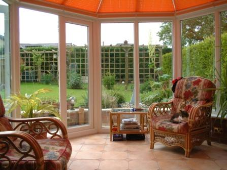 Victorian Conservatories - Victorian Conservatory with Double Doors on Front Facet, Internal View