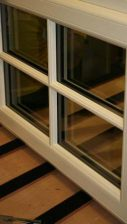 Decorative Glass - White composite window with astragal bar