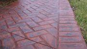 Pattern Imprinted Concrete Colours and Patterns - New Brick Herringbone