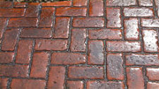 Pattern Imprinted Concrete Colours and Patterns - Old Brick Herringbone