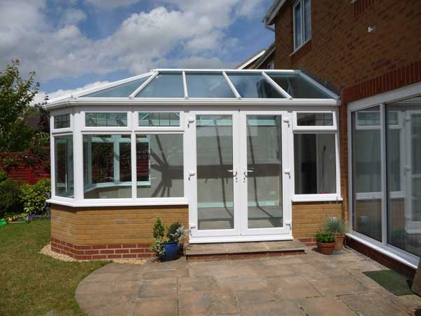 uPVC Double Doors on a Conservatory
