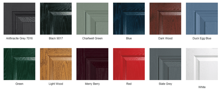 Composite Doors Colour Range