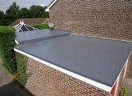 Roofing Work - Flat Roof on a Garage