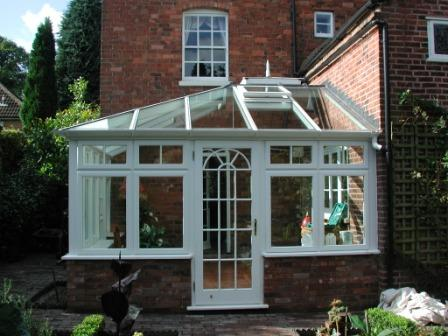 Edwardian Conservatories - Hardwood Edwardian Conservatory with Glass Roof