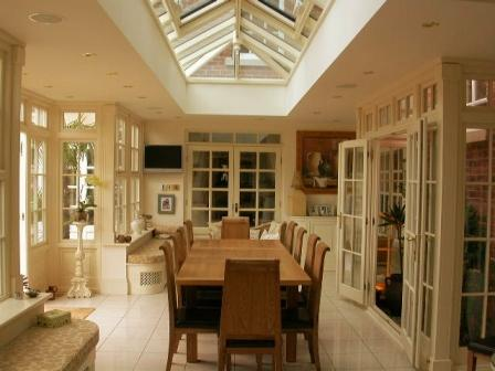 Orangeries - Internal View of an Orangery used as a Dining Room