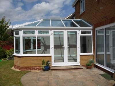 DIY Conservatories - K2 Konnect Conservatory on Durabase base and dwarf wall