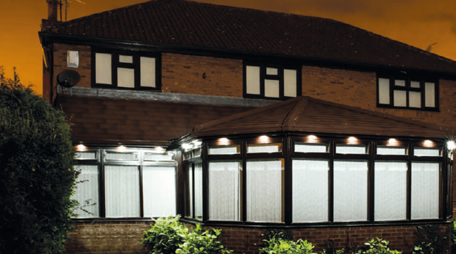 The Supalite™ Tiled Replacement Conservatory Roof - Internal and External Lighting