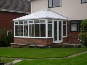 DIY Conservatories - White Edwardian conservatory with polycarbonate roof