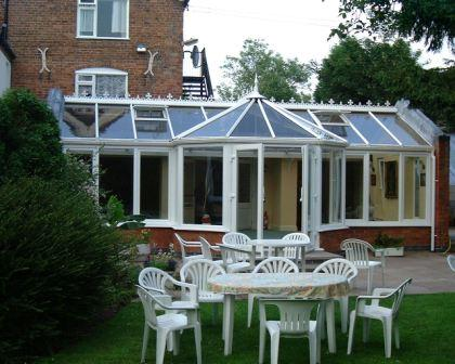 Ten Things to Consider about Conservatories - White uPVC T Shaped Conservatory
