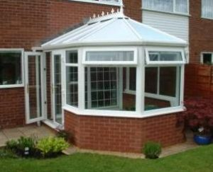 DIY Conservatories - White uPVC Three facet Victorian Conservatory