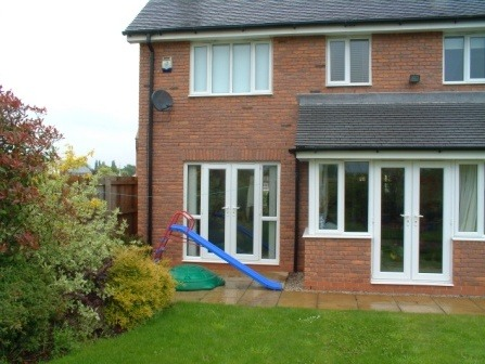 White PVCu Casement Windows and French doors