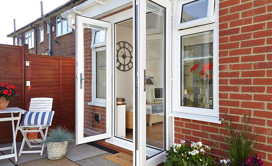 White uPVC Double Doors