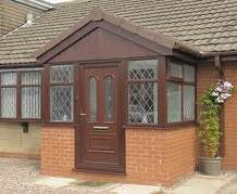 Porches - Woodgrain Effect Gable Style Porch